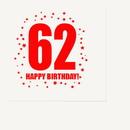 Partypro TQP-310 62Nd Birthday Luncheon Napkin 16-Pkg