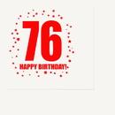 Partypro TQP-324 76Th Birthday Luncheon Napkin 16-Pkg