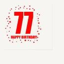 Partypro TQP-325 77Th Birthday Luncheon Napkin 16-Pkg