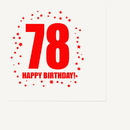 Partypro TQP-326 78Th Birthday Luncheon Napkin 16-Pkg