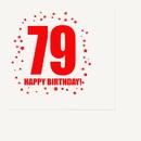 Partypro TQP-327 79Th Birthday Luncheon Napkin 16-Pkg
