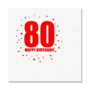 Partypro TQP-328 80Th Birthday Luncheon Napkin 16-Pkg