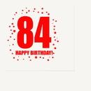 Partypro TQP-332 84Th Birthday Luncheon Napkin 16-Pkg
