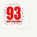 Partypro TQP-341 93Rd Birthday Luncheon Napkin 16-Pkg