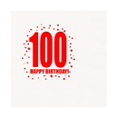 Partypro TQP-348 100Th Birthday Luncheon Napkin 16-Pkg