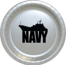 Partypro TQP-359 Us Navy Ship Silver Dinner Plate 8/Ct
