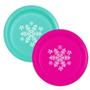 Partypro TQP-365 Snowflake Teal-Magenta Dinner Plate