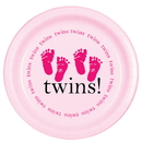Partypro TQP-524 Twins Pink Dessert Plate 8/Pkg