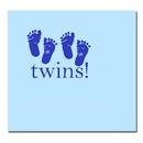 Partypro TQP-529 Twins Blue Luncheon Napkin 16/Pkg