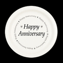 Partypro TQP-547 Happy Anniversary Dinner Plate