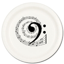 Partypro TQP-618 Music Note Bass Dinner Plate 8/Pkg