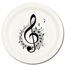 Partypro TQP-620 Music Note Treble Dessert Plate 8/Pkg