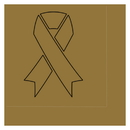 Partypro TQP-2021 Cancer Aware Gold Ribbon Luncheon Napkin