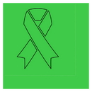 Partypro TQP-2071 Cancer Aware Lime Green Ribbon Luncheon Napkin