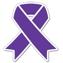 Partypro TQP-2089 Cancer Aware Purple Ribbon 16Inch Decoration