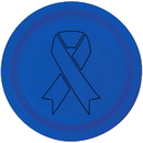 Partypro TQP-2104 Cancer Aware Blue Ribbon Dinner Plate