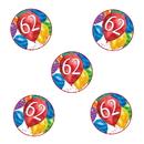 Partypro TQP-3589 62Nd Birthday Balloon Blast Deco Fetti