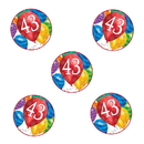 Partypro TQP-3608 43Rd Birthday Balloon Blast Deco Fetti