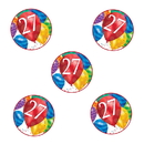 Partypro TQP-3624 27Th Birthday Balloon Blast Deco Fetti