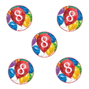 Partypro TQP-3643 8Th Birthday Balloon Blast Deco Fetti