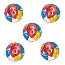 Partypro TQP-3648 3Rd Birthday Balloon Blast Deco Fetti