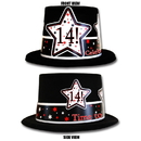 Partypro TQP-3939 14Th Birthday Time To Celebrate Top Hat