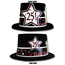 Partypro TQP-3950 25Th Birthday Time To Celebrate Top Hat