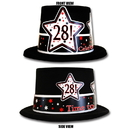 Partypro TQP-3953 28Th Birthday Time To Celebrate Top Hat
