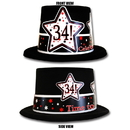 Partypro TQP-3959 34Th Birthday Time To Celebrate Top Hat