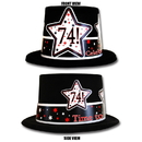 Partypro TQP-3999 74Th Birthday Time To Celebrate Top Hat