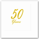 Partypro TQP-4807 50 Years Classy Gold Beverage Napkin