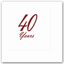 Partypro TQP-4808 40 Years Classy Ruby Beverage Napkin