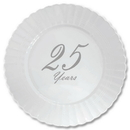 Partypro TQP-4873 25 Years Classy Silver Plastic Dinner Pl