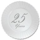 Partypro TQP-4905 25 Years Classy Silver Plastic Dessert P