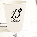 Partypro TQP-4908 13 Years Classy Black Cup