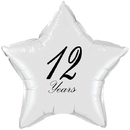Partypro TQP-4948 12 Years Classy Black Star Balloon