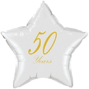Partypro TQP-5039 50 Years Classy Gold Star Balloon