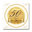 Partypro TQP-5658 50Th Anniversary Coaster