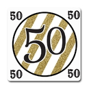 Partypro TQP-5673 Black And Gold 50Th Coaster