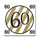 Partypro TQP-5674 Black And Gold 60Th Coaster