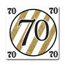 Partypro TQP-5675 Black And Gold 70Th Coaster