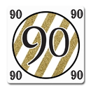 Partypro TQP-5677 Black And Gold 90Th Coaster