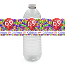 Partypro TQP-6341 69Th Balloon Blast Water Bottle Label