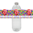 Partypro TQP-6344 72Nd Balloon Blast Water Bottle Label