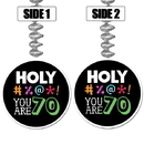 Partypro TQP-6834 Holy Bleep 70Th Birthday Dangler
