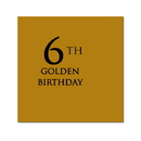 Partypro 780619299421 6Th Golden Birthday Beverage Napkin