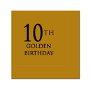 Partypro 780619299469 10Th Golden Birthday Beverage Napkin