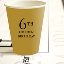 Partypro 780619300622 6Th Golden Birthday Hot Cold Cups