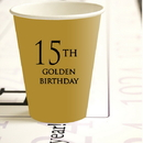 Partypro 780619300714 15Th Golden Birthday Hot Cold Cups