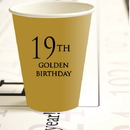Partypro 780619300752 19Th Golden Birthday Hot Cold Cups